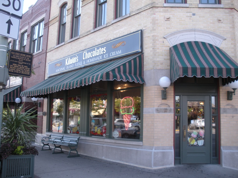 An exterior picture of the Lake Geneva store front