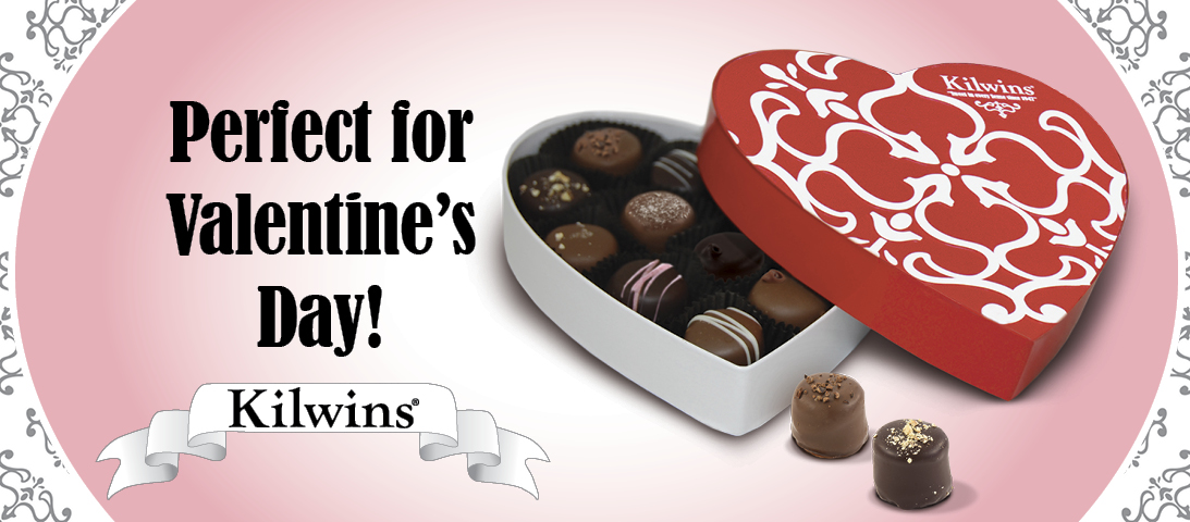 """Graphic of Valentine's Day Heart Box with text, """"Perfect for Valentine's Day!"""""""