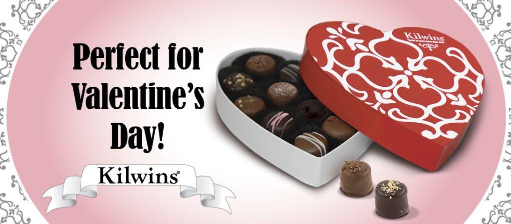 A box full of Valentines chocolates