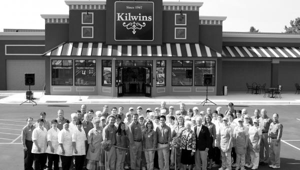 Ribbon cutting ceremony at Kilwins Chocolate Kitchen and Headquarters