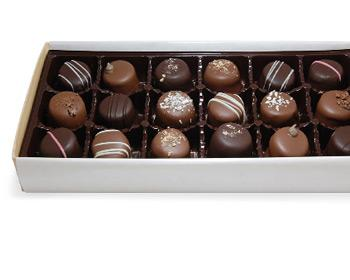 A box of Kilwins Truffles