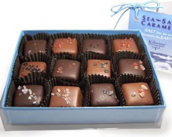Milk and Dark Chocolate Sea-Salt Caramels