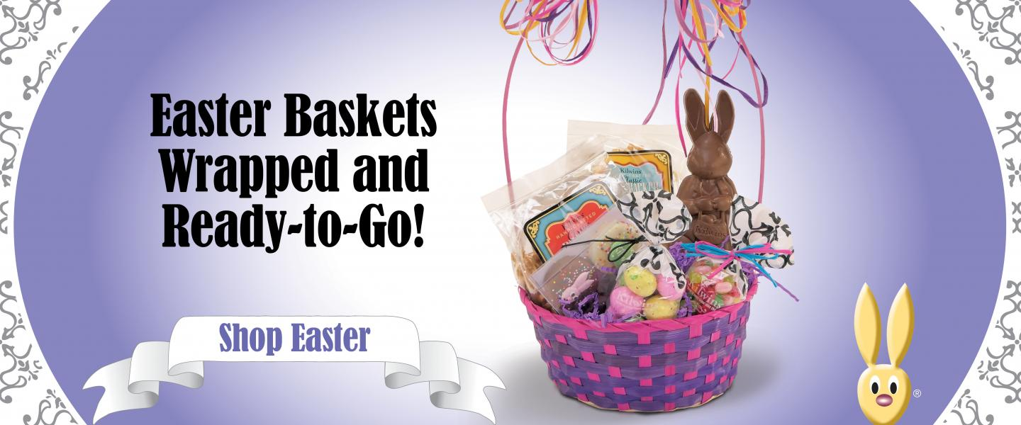 Easter Baskets Wrapped & Ready-to-Go!
