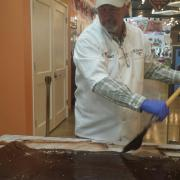 Photo of the owner paddling fudge