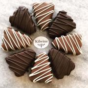 Picture of chocolate dipped short bread cookies