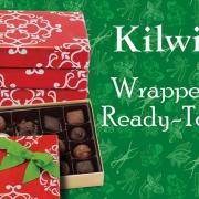 "Photo of boxed chocolates with text, ""Wrapped & Ready-to-Go"""