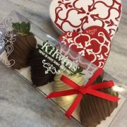A picture of chocolate dipped strawberries