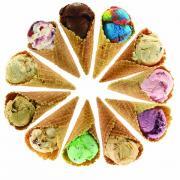 Photo of Ice Cream Cones arranged in a circle