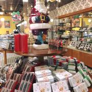 Picture of Christmas chocolates display table