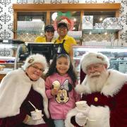 Santa and Mrs. Claus at Kilwins in Downtown San Antonio