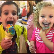 Picture of two children enjoying ice cream at Kilwins