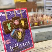 Graphic promoting Easter at Kilwins