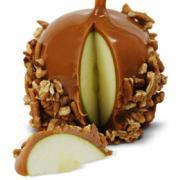 A Kilwins Pecan Caramel Apple