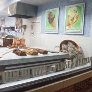 Picture of store front and fudge kitchen
