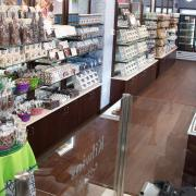 Interior photo of the store showing products on display