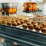 Photo of Caramel Apples on tray