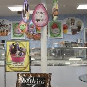 Interior photo of the store merchandised for Easter