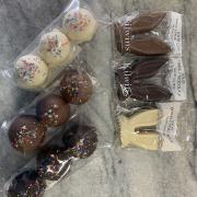 chocolate bunny ears $3.99; bunny tails (PB & chocolate) $4.99/pkg