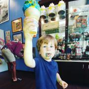 Picture of a boy with a Kilwins ice cream cone