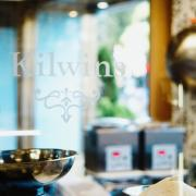 Photo looking into Kilwins Chicago-Michigan Ave. store window
