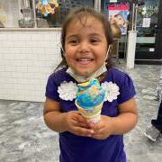Photo of little girl eating Ice Cream Cone