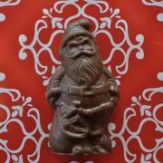 solid chocolate, santa, chocolate santa