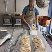 Team member making fudge