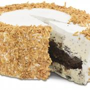 A picture of a Kilwins Toasted Coconut Gourmet Cake and Ice Cream