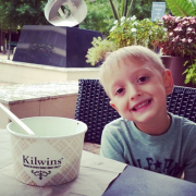 Picture of a boy at Kilwins with ice cream