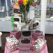 Interior of the store merchandised for Mother's Day