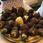 Photo of Chocolate-Dipped Strawberries on Tray