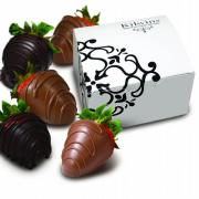 Photo of Chocolate-Dipped Strawberries with Box