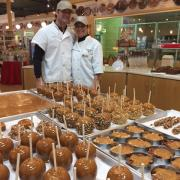A picture of Caramel Apples and other treats