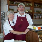 Photo of Kilwins Fort Myers Beach, FL owners behind counter