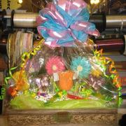 Flower basket of chocolate flowers
