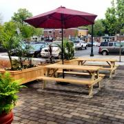 Our brand-new back patio, just in time for summer!