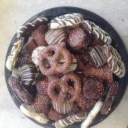 Picture of chocolate dipped pretzels