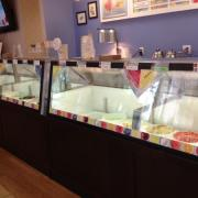 Photo of the ice cream dipping case