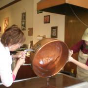 Picture of Fudge being poured on the table
