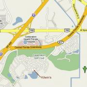 Map showing location of Kilwins Celebration, FL