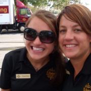 Photo of 2 Kilwins Team Members outside