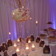 Photo of Kilwins boxes on table at event