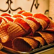 A picture of Kilwins waffle cones