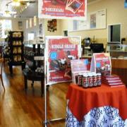 Photo inside Kilwins The Villages, FL store showing Dominicana Single Origin products on display