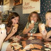 Enjoying ice cream at Kilwins Frankfort