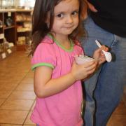 Photo of little girl eating Ice Cream