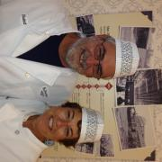 Photo of Kilwins The Villages, FL store owners wearing chef coats