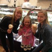 A photo of a family enjoying ice cream at Kilwins