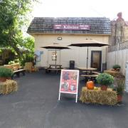 Picture of the Minocqua store with Halloween decor
