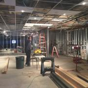 Interior photo of the store being built